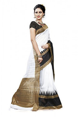 Saree ( Alka Fashion Yellow Color Bhagalpuri Art Saree With Blouse Pices-Code AFS237A )