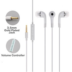 SBA Lenovo A6000 Plus 100% ORIGINAL GENUINE QUALITY AAA++ Grade Compatible Certified Stereo Super Bass Earphone Hands-Free Mini Size Headset With Mic, On/Off switch & Volume Controller 3.5Mm Jack