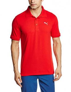 Puma Men's Solid Regular Fit Cotton Polo (82288513_Puma Red_Medium)