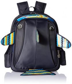 Albert and James Junior Synthetic Blue School Bag