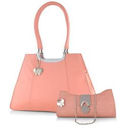 Butterflies Women's Handbag (Dark Peach) (BNS WB0159)