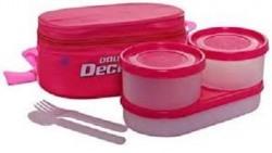 Milton Double Decker Lunch Box, Pink (EC-SOF-FST-0013_PINK)