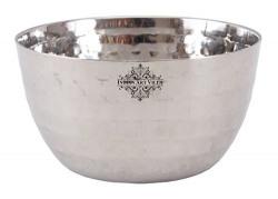 IndianArtVilla Steel Hammered Bowl Katori|Serving Dinner Vegetable Dessert Rayta|Volume 220 ML