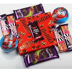 Cadbury Dairy Milk Silk Super Fun, Super Saver Combo [Roast Almond Silk, Gems, Jelly Popping Candy, Nutties]