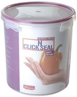 Princeware Click N Seal Canister, 3.82 Litres, Violet