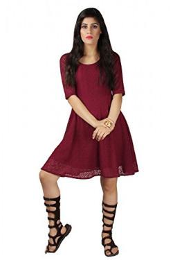 Hamza's Wear Eavan Women Half-Sleeve Lace Cocktail Dress
