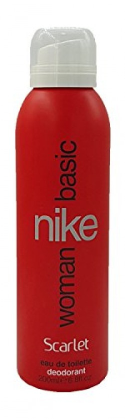 Nike Basic Scarlet EDT Deo for Women, Red, 200ml
