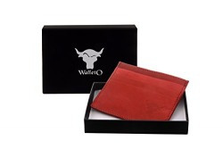 Walleto Tan Men's Leather Business Card, Personal Id,Credit Card, Driving Licence Card Holder Cum Mini Money Wallet