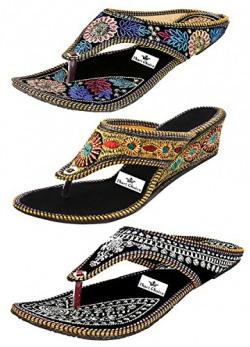 Thari Choice Women's Combo Of 3 Fashion Sandal-Ind/Uk-6 (Eu-39)