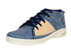 Red Rose Men's Sky Blue Stylish casual Shoes (7, Sky Blue)