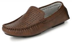 Knoos Men's Brown Loafers - 10 UK