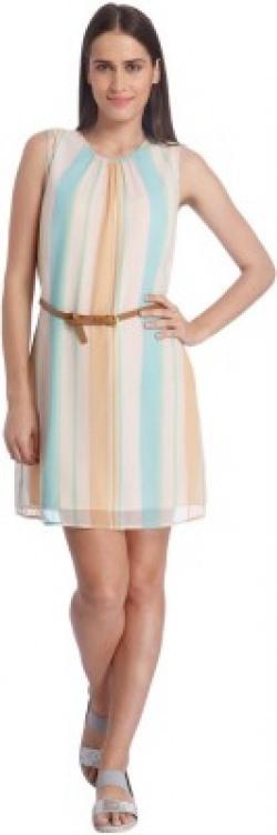 Vero Moda Women's Sheath Multicolor Dress