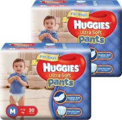 Huggies Ultra Soft Pants Combo - M