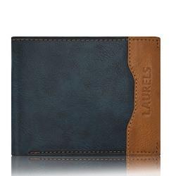 Laurels Tusk Blue Color Genuine Leather Handmade Men's Wallet