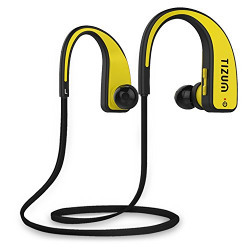 Tizum S-200 FreeStyler In Ear Wireless Feather Light Sports Bluetooth Headset with Mic (Neon Yellow)