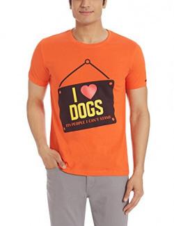 Status Quo Men's T-Shirt (8907001729768_CC-203_Small_Lt.Coral )
