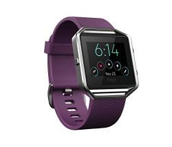 Fitbit Blaze Smart Fitness Watch, Small (Plum/Silver)