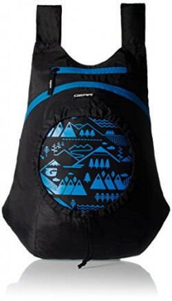 GEAR Black and Blue Casual Backpack (BKPCARYON0110)