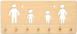 Sehaz Artworks Family Wooden Key Holder