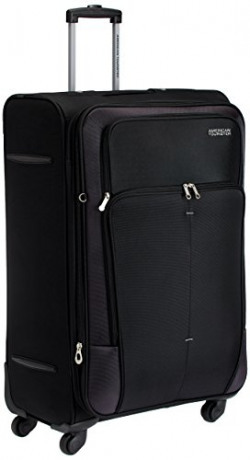 American Tourister Crete Polyester 77cms Black Softsided Suitcase (49W (0) 09 003)