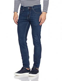 Lee Cooper Men's Skinny Fit Jeans (8907350552482_DM 58 - CORE 08_34W x 33L_Dark Indigo)