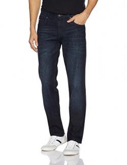 Lee Cooper Men's Straight Fit Jeans (8907350552239_DM 55 - CORE 10_32W x 33L_Dark Indigo)