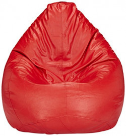 Solimo XL Bean Bag Cover Without Beans (Red)