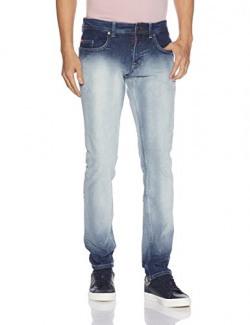 Lee Cooper Men's Slim Fit Jeans (8907350540908_DM 22_36W x 33L_Light Indigo)