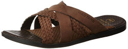 Red Tape Men's Brown Leather Slippers - 9 UK/India (43 EU)