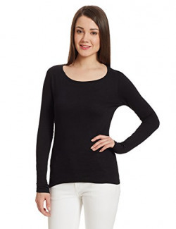 Fox Women's Plain T-Shirt (537576_Black_16)