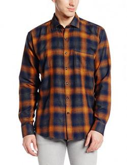 Dennison Men's Casual Shirt (SS-17-020_40_Multicolor)