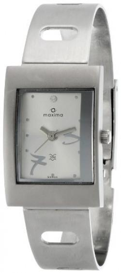 Maxima Attivo Analog Silver Dial Women's Watch - 23303CMLI