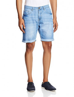 People Men's Cotton Shorts (8903880758769_P10102178628251_38_Ice)