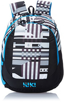 Wiki Daypack 14 liters Black Kids Bag (3 - 5 years age and front design may vary)
