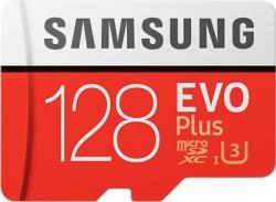 Samsung EVO Plus 128 GB MicroSDXC UHS Class 3 100 MB/s  Memory Card