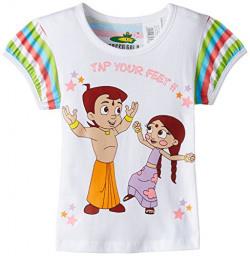 Chhota Bheem Girl's Cotton T-Shirt (8904157846318_GGAPP-CB281D_7-8yrs_White)