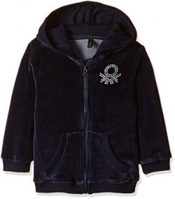 United Colors of Benetton Baby Girls' Knitwear (16A3UK0C5098G13C0Y_Navy Blue_0Y)