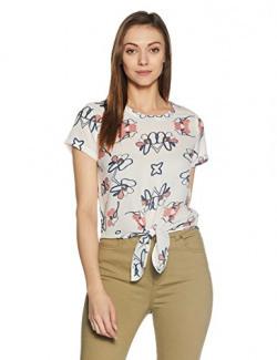 Symbol Women's Front Tie Top (AW17SYMWBL020_White_XL)
