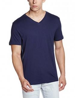 GAP Men's Short Sleeve Essential V Neck Tee (125916700018_76863871050_S_Raw Indigo)