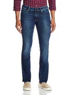 Wrangler Men's Slim Fit Jeans (8907222649128_W15506W2298B_38W x 33L_Blue)