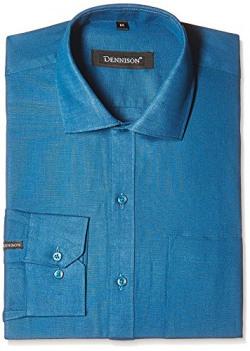 Dennison Men's Formal Shirt (SS-16-170_44_Turquoise)