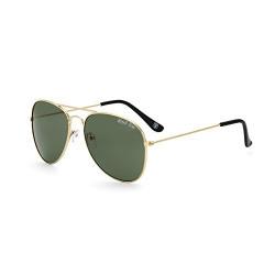 Royal Son UV Protected Aviator Sunglasses For Men And Women (RS003AV|58|Green Lens)