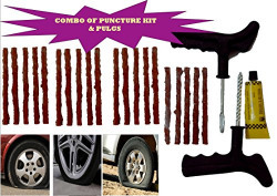 Tyre King Tubeless Tyre Puncture Plug Repair Kit for Car and Bikes(Black)
