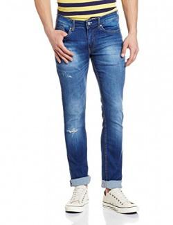 Symbol Men's Slim Fit Jeans (50891_34W x 33L_Medium Blue)