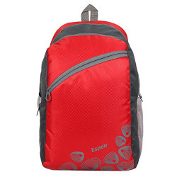 Espoir 21 Ltrs Black Casual Backpack (Red Grey 0507)
