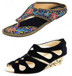 Thari Choice Women's Multicolor Sandal Combo Pack ( (Ind/Uk-7)