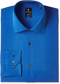 Van Heusen Men's Formal Shirt (8907566775781_VHSF317M05989_40_Dark Blue)