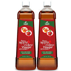 Simply Nutra Apple Cider Vinegar with Honey – Natural, Raw, Unfiltered, Unflavored – 500ml for weight loss (Honey, Pack of 2)