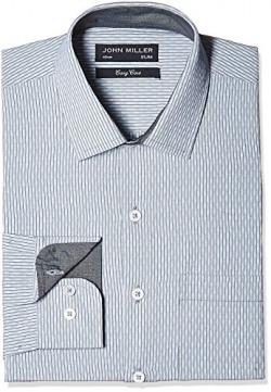 John Miller Men' s Formal Shirt (8907372333410_1OS88332_39_Grey)
