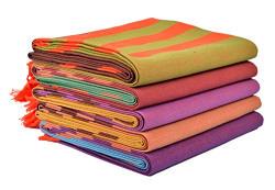 Sathiyas Cotton Bath Towel Pack of 5 (Multicolor)